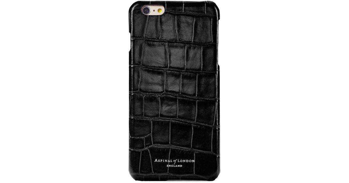 new product d84b5 81c25 Aspinal - Black Iphone 7 Leather Cover - Lyst