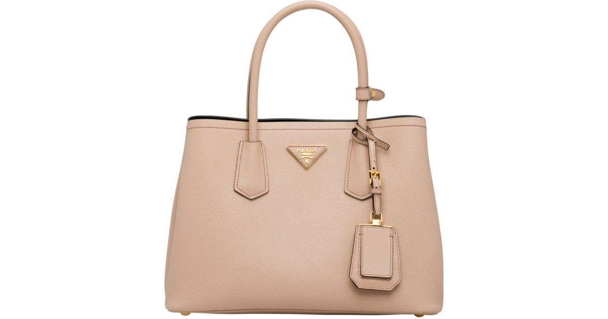 f59baa23dc4f Lyst - Prada Double Small Bag in Natural