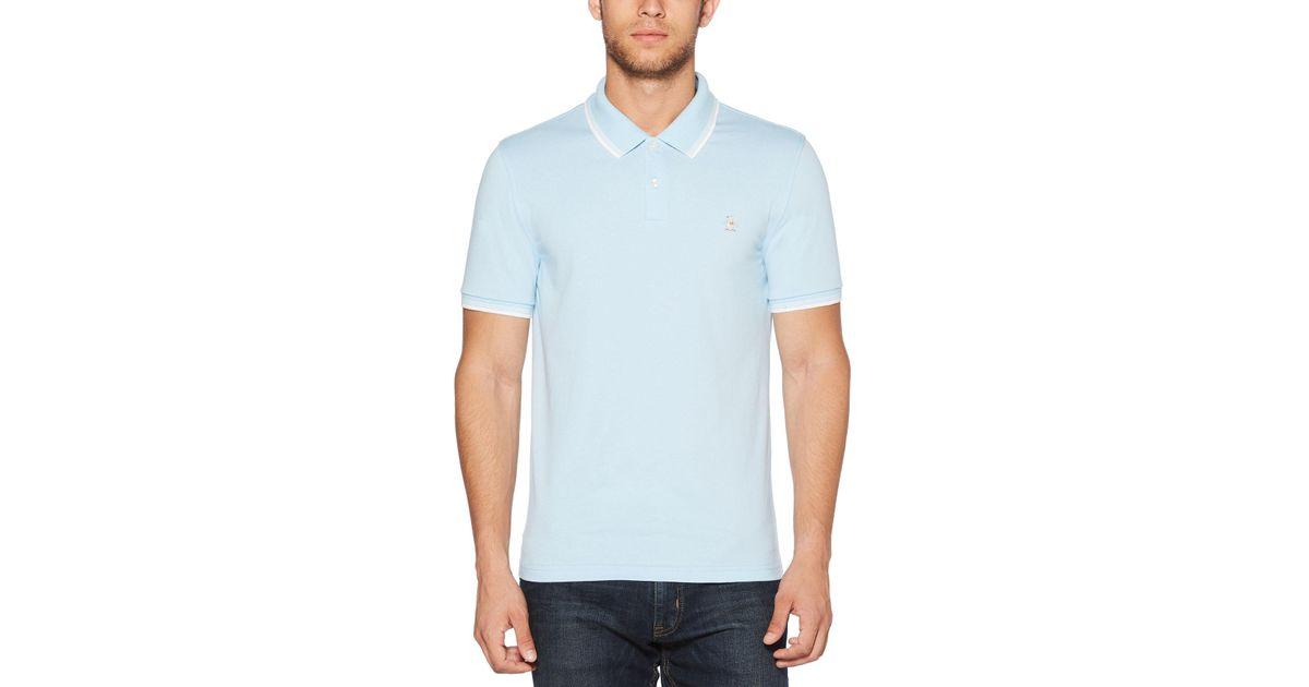 c66051c7163 Original Penguin Soccer Polo in Blue for Men - Lyst
