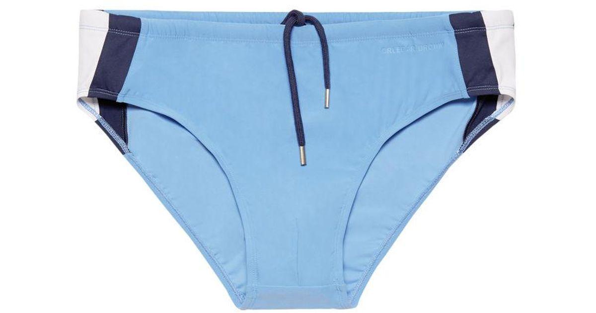 ce99ff92ba Orlebar Brown Dachsund Badeslip In Riviera/weiß/navy in Blue for Men - Lyst
