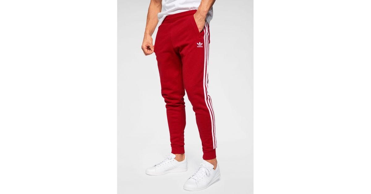 Adidas Originals Jogginghose »3 STRIPES PANT« in Red für Herren