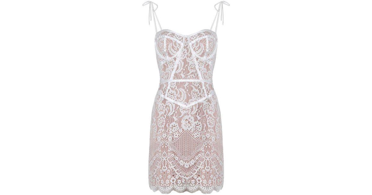 For Love Lemons Tati Lace Corset Dress White