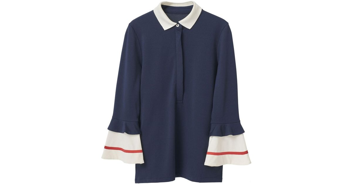c31a07f22ce4a Lyst - Ganni Naoki Polo Blouse in Blue