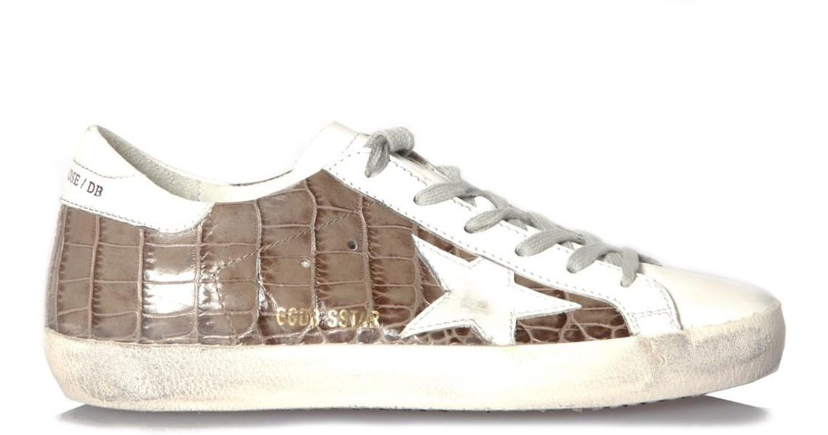 taille 40 91fa5 5b7f4 Golden Goose Deluxe Brand Multicolor Superstar Croc-effect Leather Sneakers