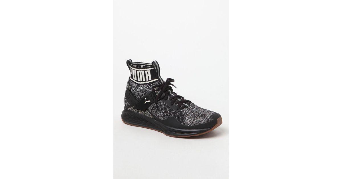 bb46cafab816 Lyst - Puma Ignite Evoknit Hypernature Black   Birch Training Shoes in Black  for Men