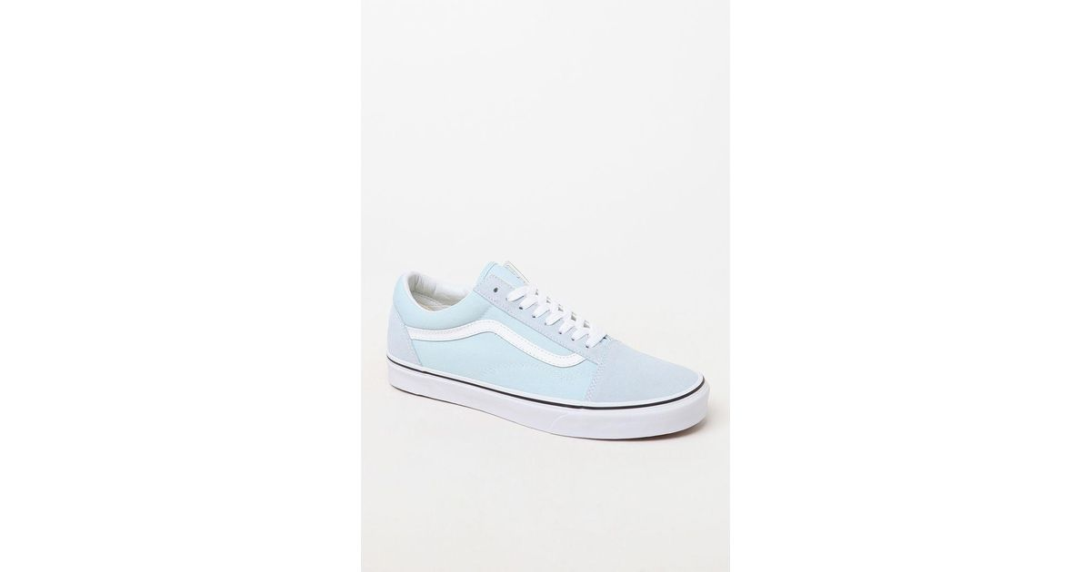 71e224fa3e20 Lyst - Vans Old Skool Light Blue   White Shoes for Men