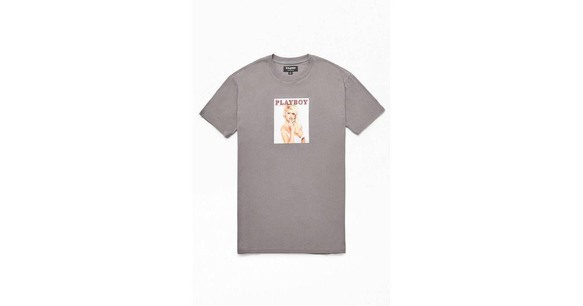 playboy unisex tshirt bunny black pink soft flock