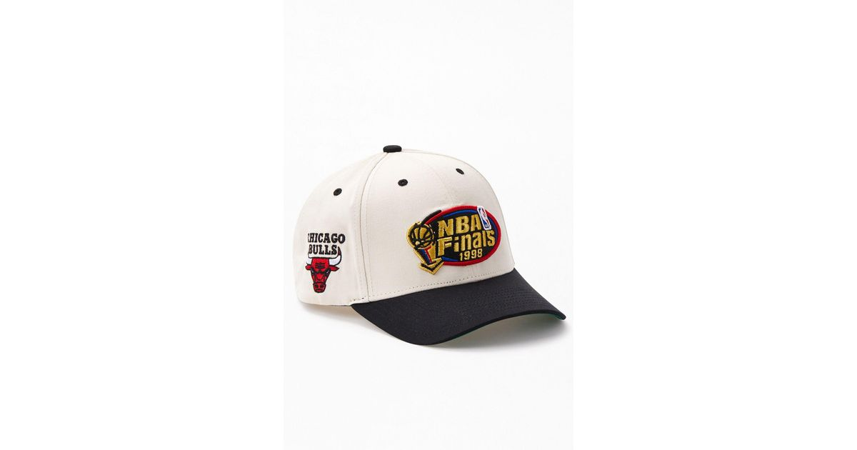 Mitchell & Ness 1998 Nba Finals Snapback Hat in White ...