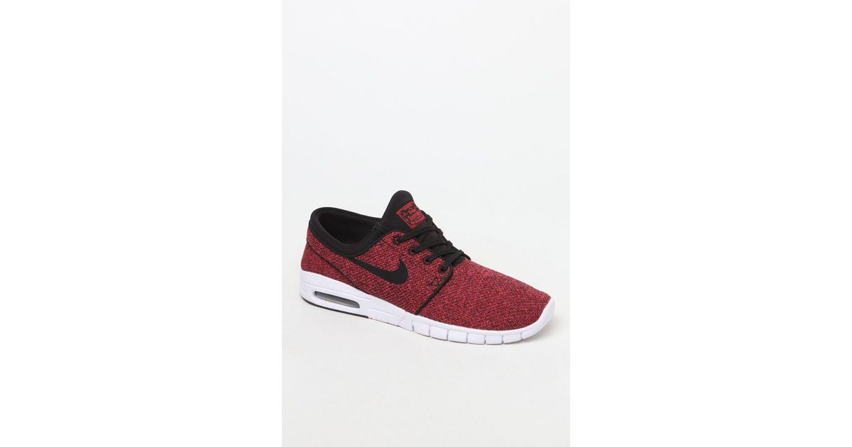 ... promo code for lyst nike stefan janoski max black red shoes in red for  men 5b98d 17f0afce6