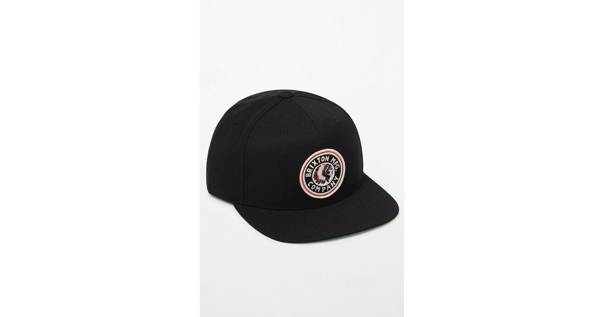 7b939a76463 Lyst - Brixton Rival Snapback Hat in Black for Men
