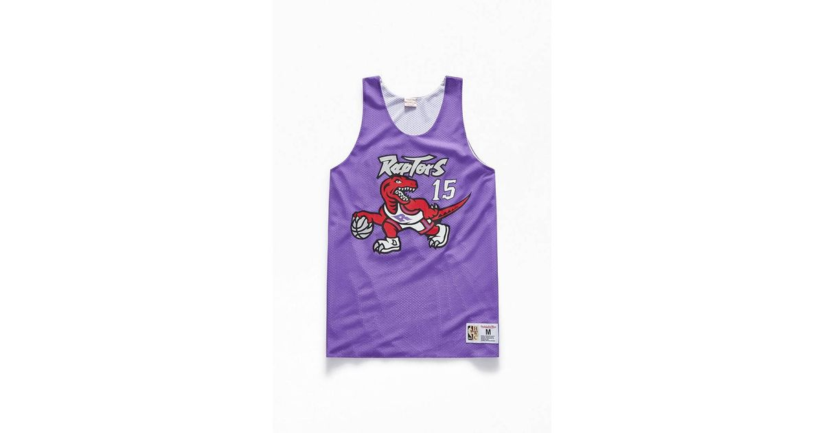 timeless design d1073 3ae2f Mitchell & Ness Purple Reversible Raptors Carter Jersey for men