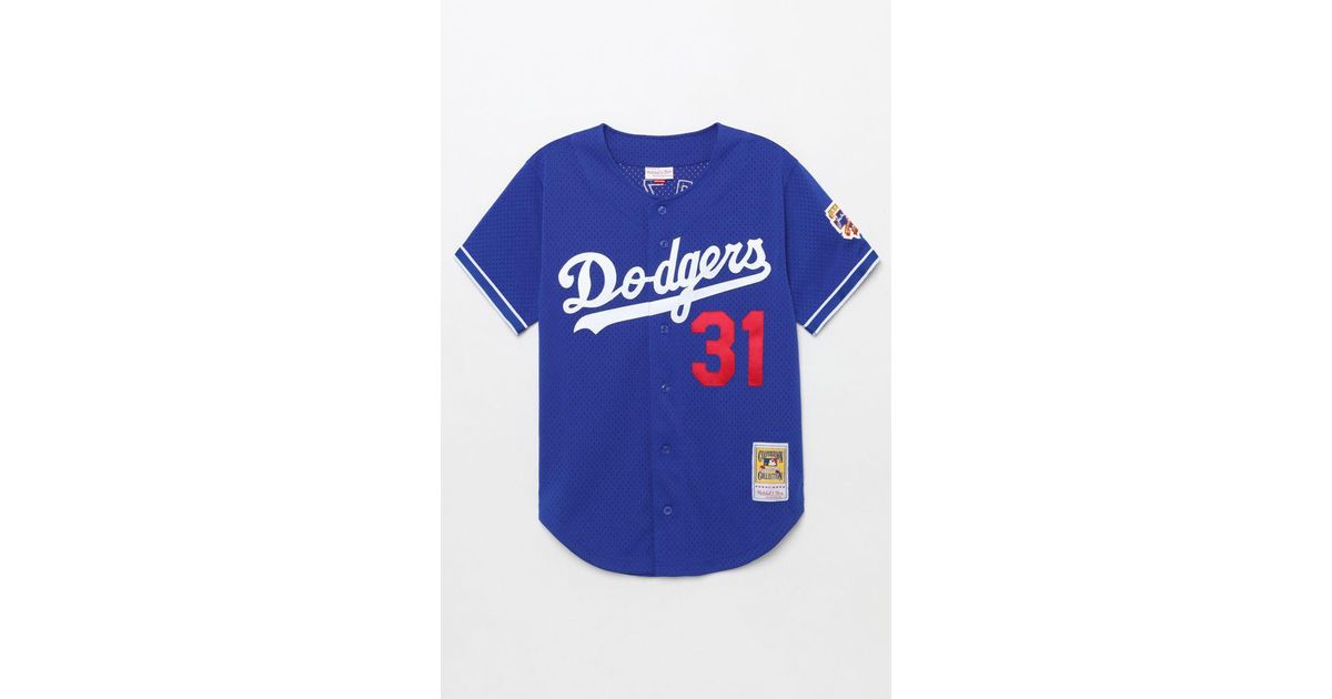 size 40 ba1cb 9ef4a Mitchell & Ness - Blue Dodgers Piazza Jersey for Men - Lyst