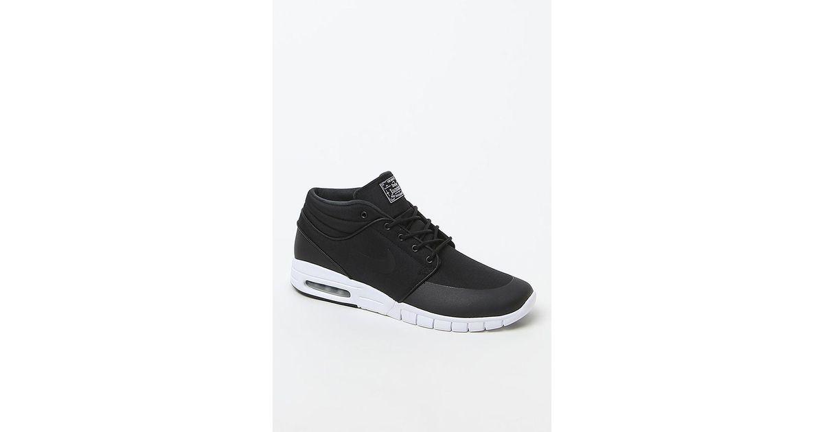 san francisco 720d6 f0cc0 Lyst - Nike Stefan Janoski Max Mid Black   White Shoes in Black for Men