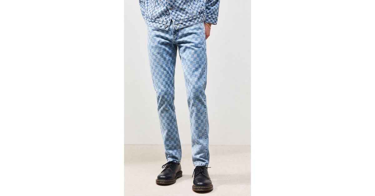 Blue Checker Taper Jeans 512 Men Levi's Slim For mN0vnwOy8P