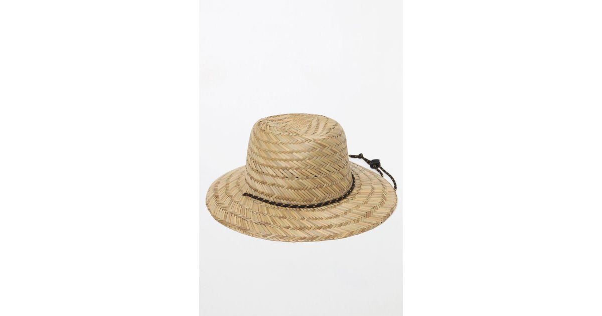 Lyst Billabong Nomad Straw Lifeguard Hat In Natural For Men