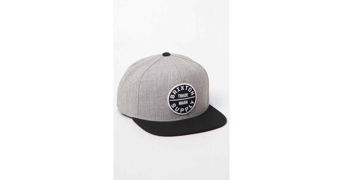 6bbe14f6218 Lyst - Brixton Oath Iii Snapback Hat in Black for Men