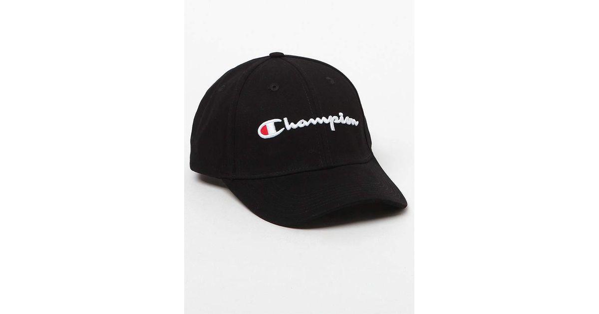 1d01775de81e3 Champion Classic Twill Strapback Dad Hat in Black for Men - Lyst