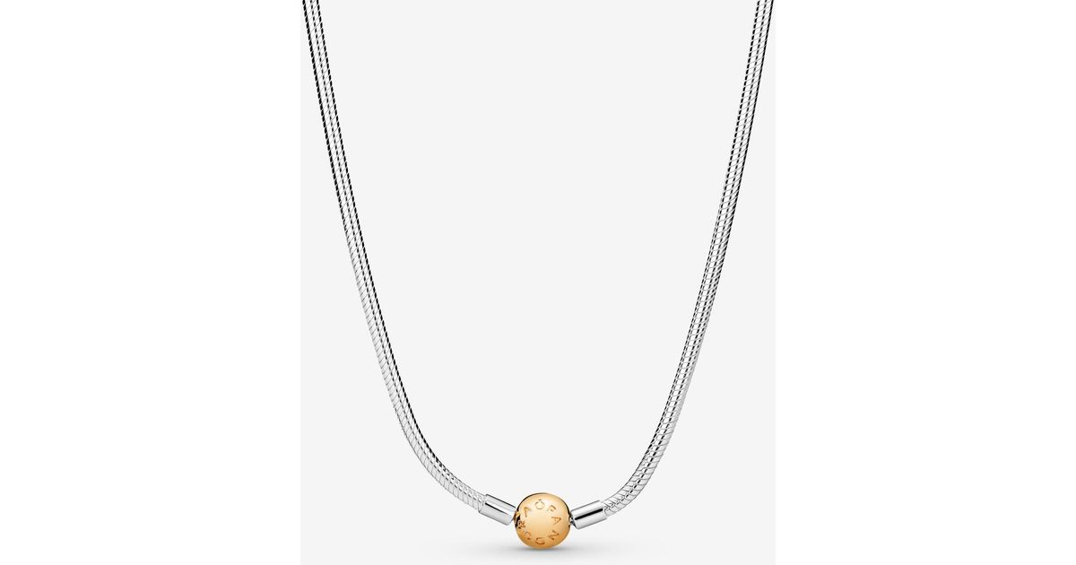 Pandora Metallic Moments Snake Chain Necklace