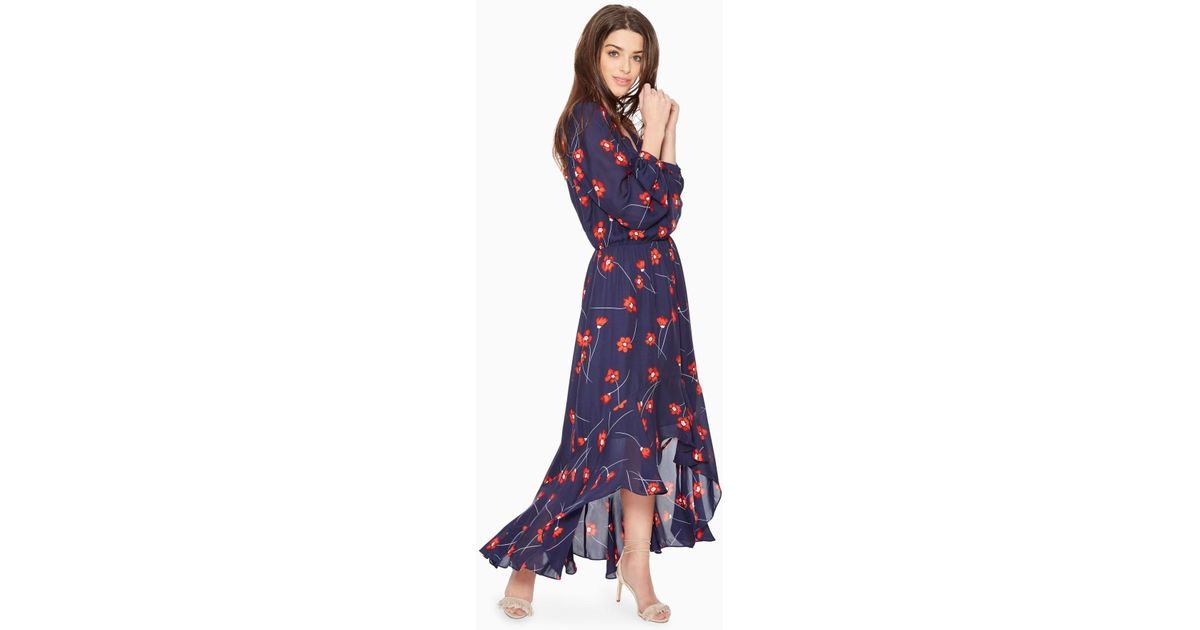 5823a37dbe Lyst - Parker Verity Floral Dress in Blue