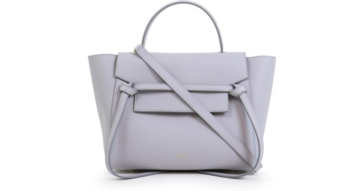 Céline Gray Mini Belt Bag Light Grey