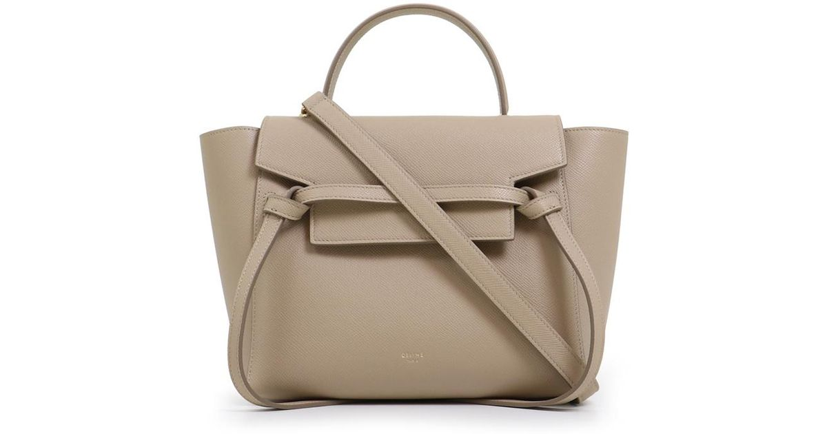 Celine Leather Micro Belt Bag Light Taupe In Black Lyst