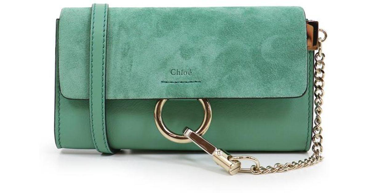 de5ce70fa12 Chloé Faye Mini Bag Happy Green in Green - Lyst