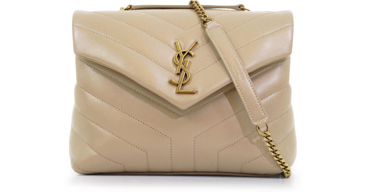 633999fa Saint Laurent Natural Loulou Small Flap Bag Poudre