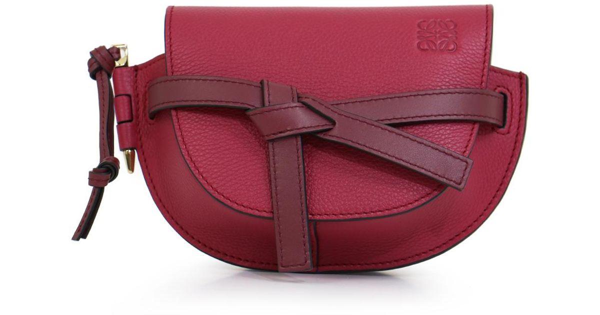 c4fd72a9a4a Loewe Red Gate Mini Bag Raspberry/wine