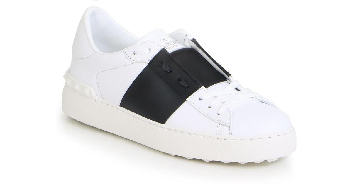 Leather Stripe White