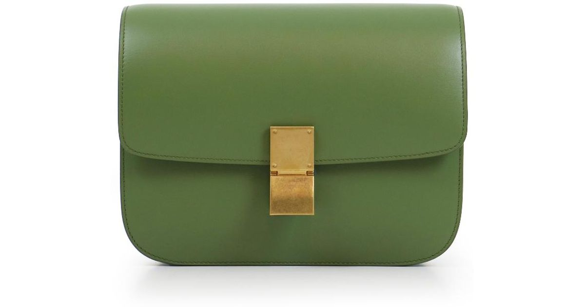 Lyst - Céline Classic Box Bag Olive in Green 7d51ad070a