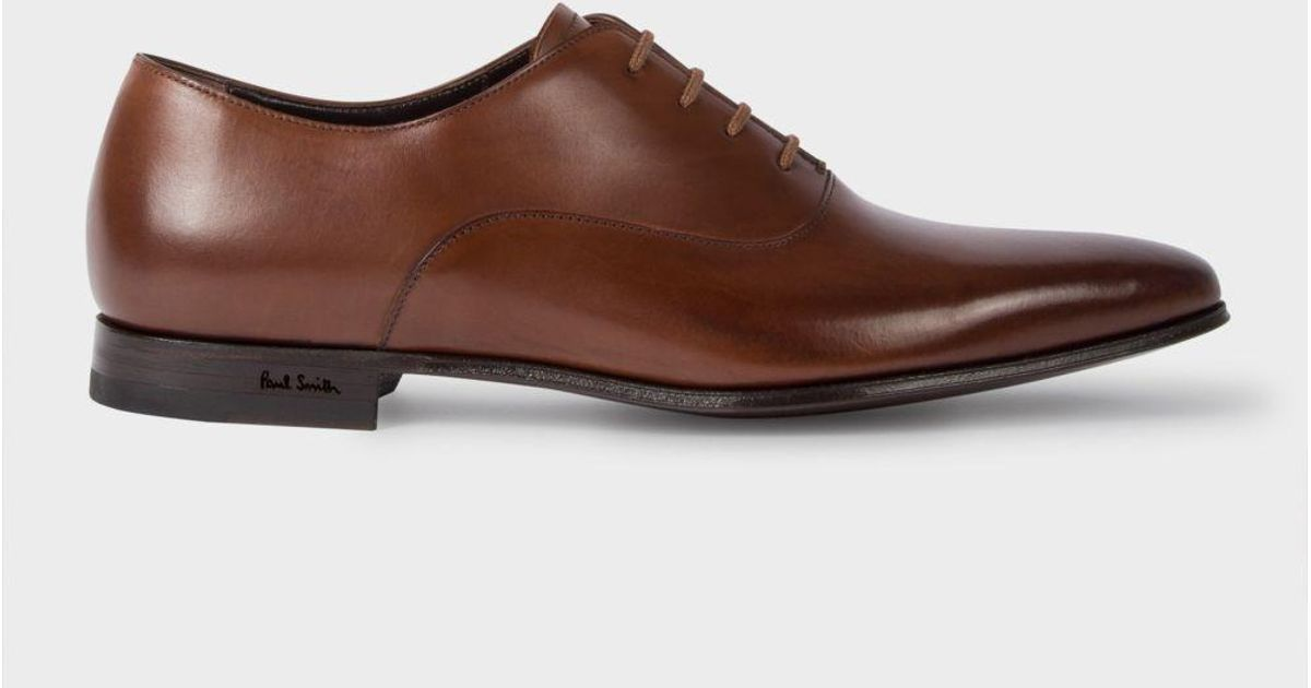 Dark Tan Leather 'fleming' Oxford Shoes