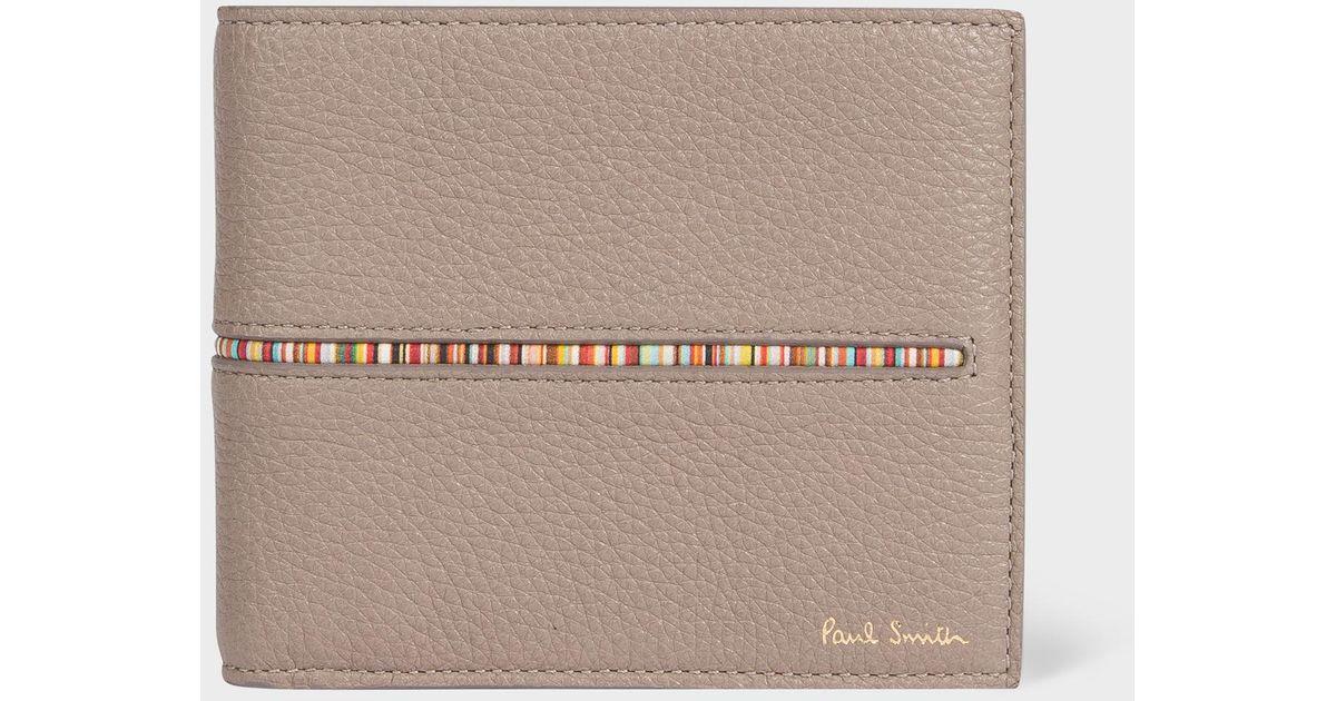 PAUL SMITH /'Signature Stripe/' Insert Black Leather COIN /& Billfold Wallet