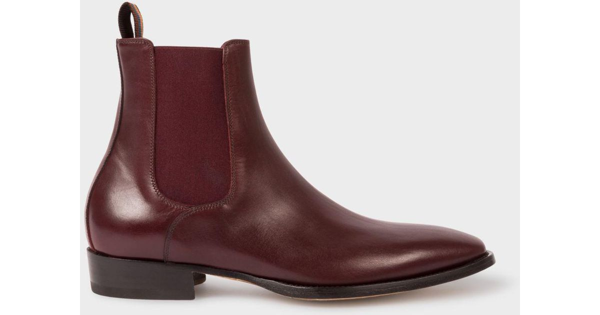 452ef0633dc Paul Smith Multicolor Men's Bordeaux Leather 'bobby' Chelsea Boots for men