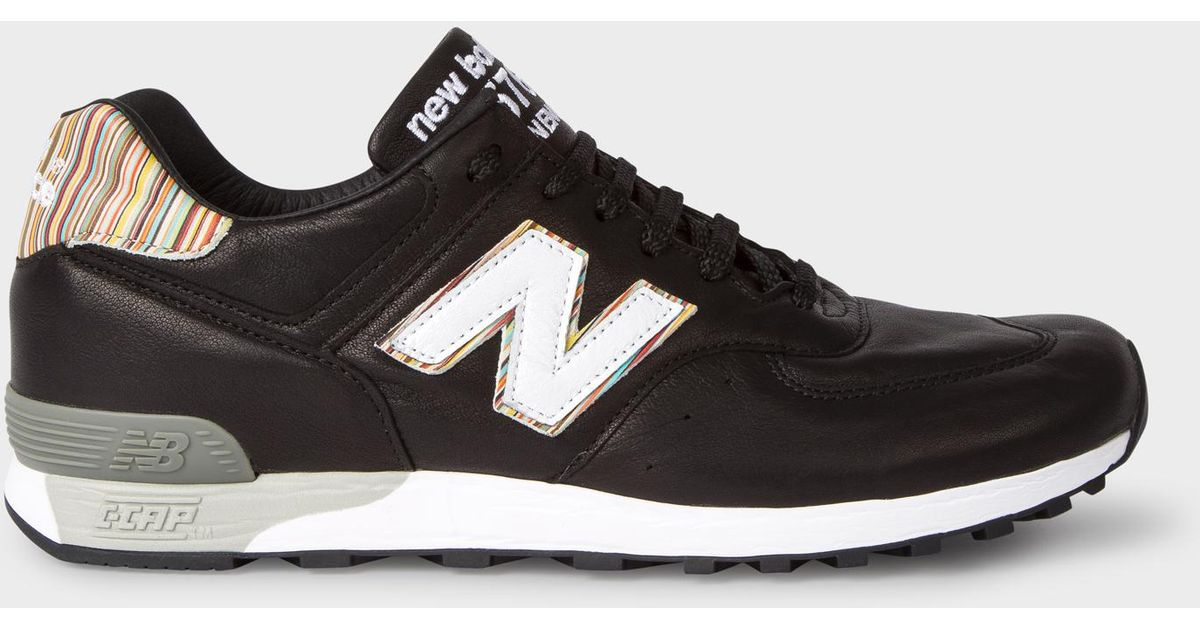 577739a28 Paul Smith New Balance - Black Leather 576 Trainers in Black for Men - Lyst