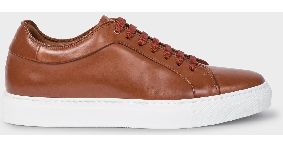 Paul Smith Tan Leather 'basso' Trainers