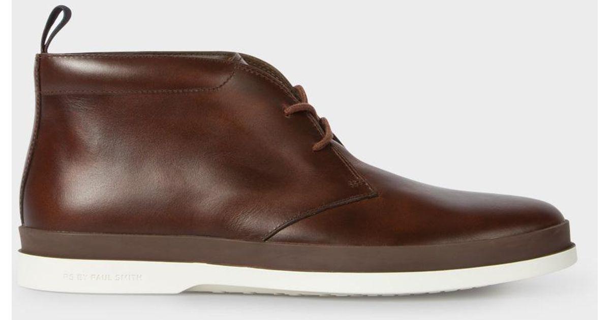 c088e9305e6 Paul Smith Brown Inkie Chukka Boots for men