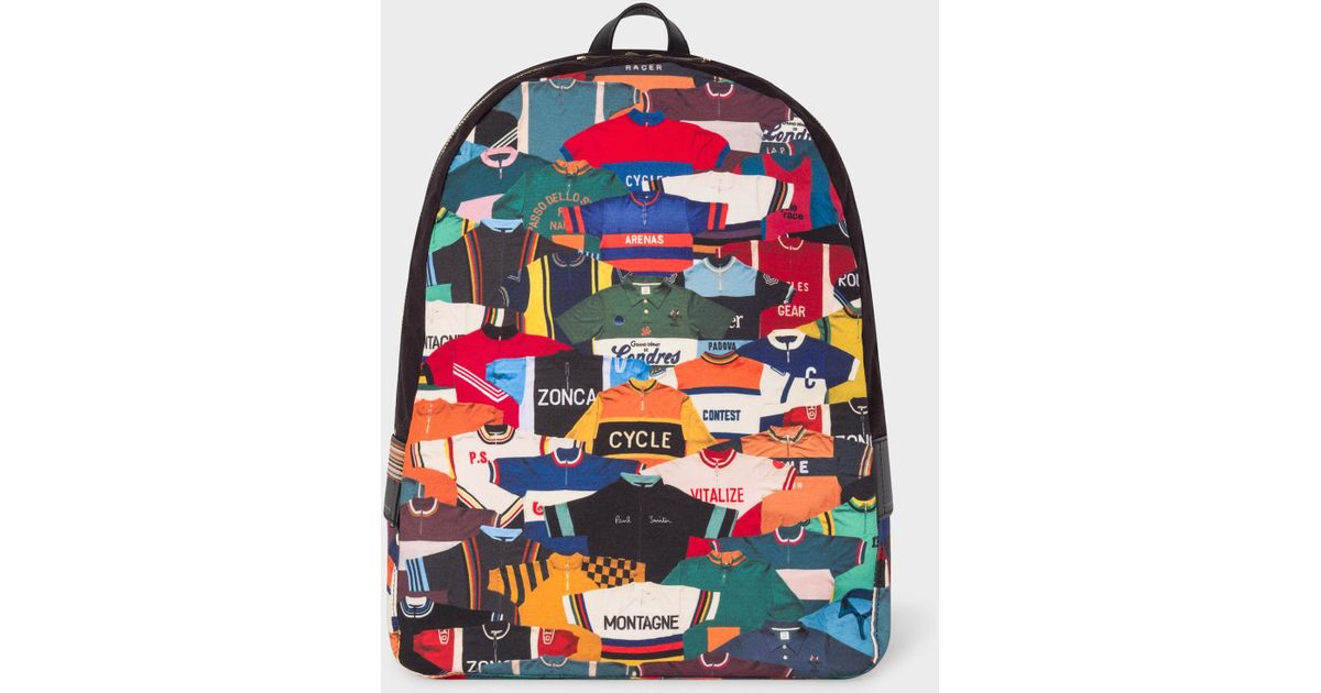 Lyst - Paul Smith  cycling Jersey  Print Canvas Backpack for Men cc9099a43