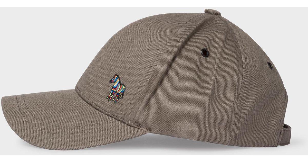 Lyst - Paul Smith Grey Cotton Zebra Logo Baseball Cap in Gray for Men 57f8bb5f98b4