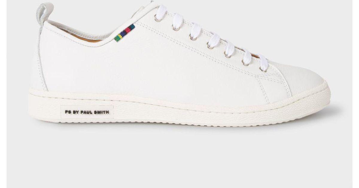White Calf Leather 'miyata' Trainers