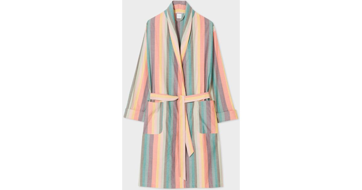 Lyst - Paul Smith Men\'s \'artist Stripe\' Cotton Dressing Gown for Men
