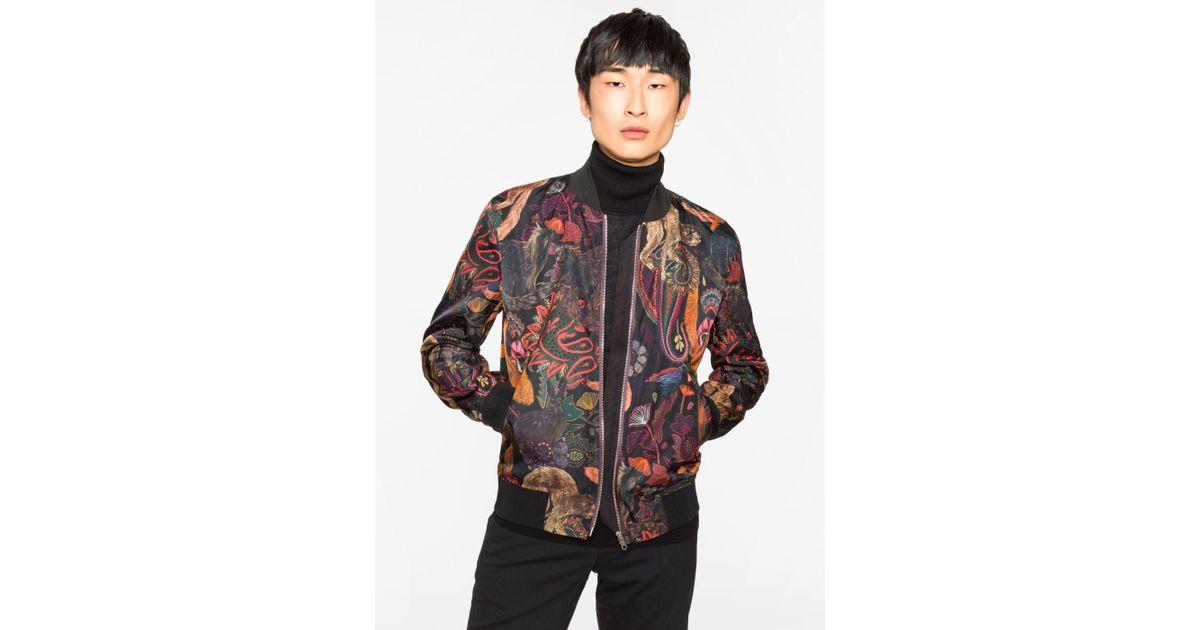 bb454896c Paul Smith Multicolor Men's 'monkey' Print Bomber Jacket for men