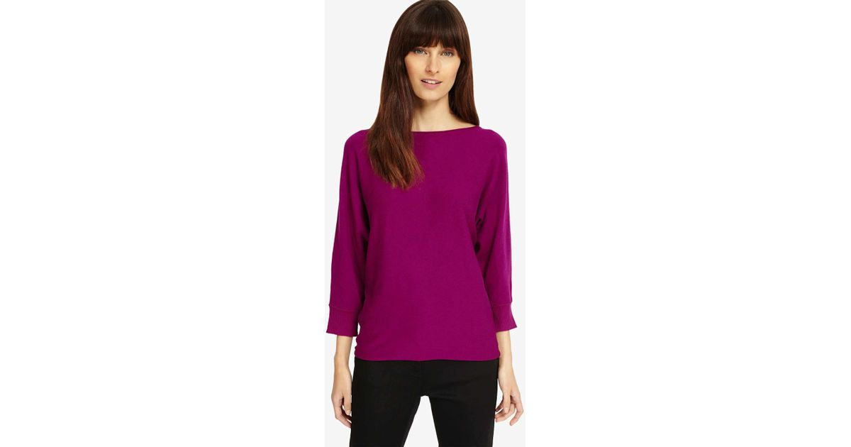 ca57c8c010e Phase Eight Purple Becca Smart Batwing Knitted Jumper
