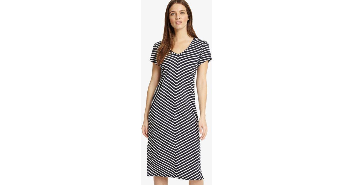 eb37096251 Lyst - Phase Eight Chantelle Chevron Beach Dress in Blue