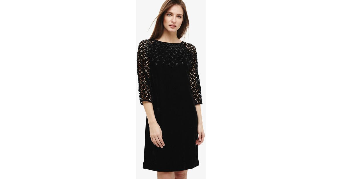 Phase Eight Synthetic Nikita Embellished Dress In Black