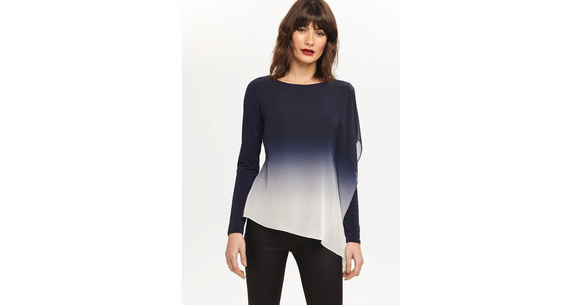 d25c3d9a Phase Eight Camille Ombre Top in Blue - Lyst
