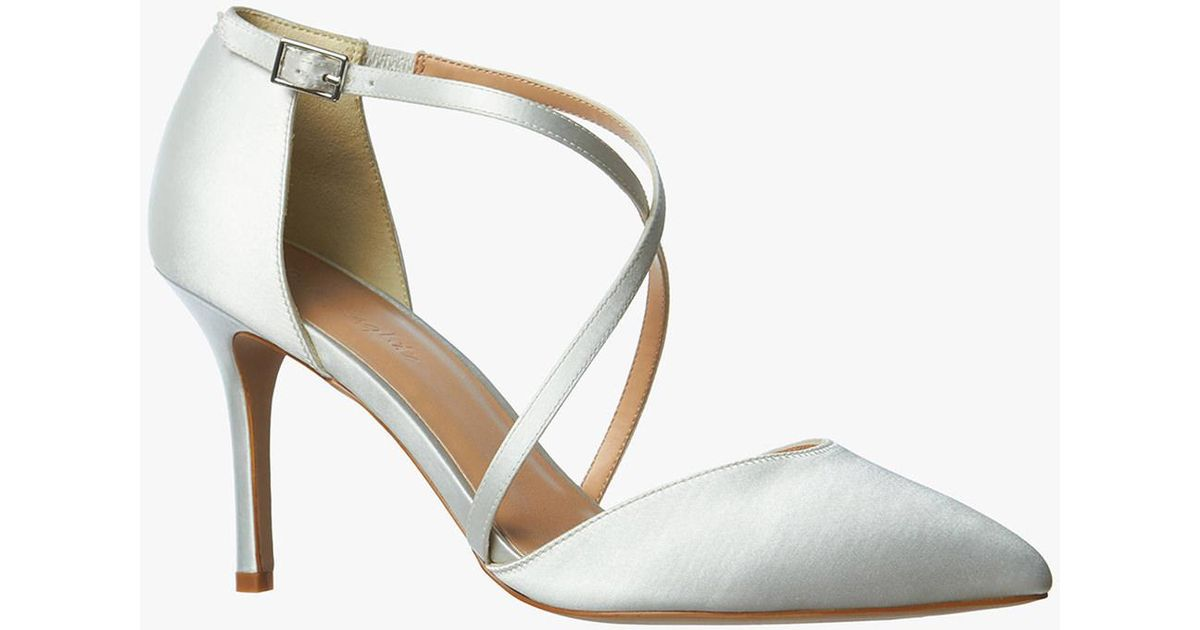 3a20743cea2 Phase Eight White Satin Pointed Court Shoes