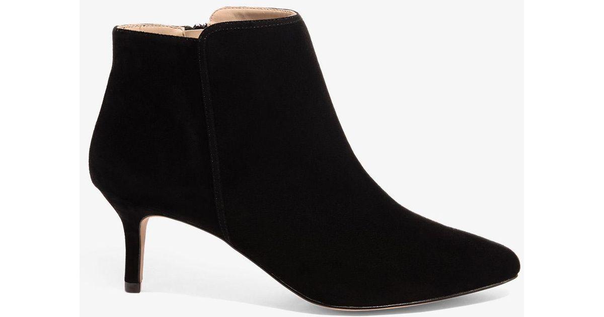 9ebe6971591 Phase Eight - Black Tasmin Pointed Kitten Heel Boots - Lyst