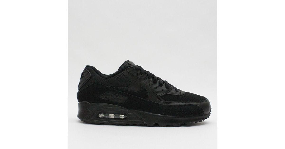 40d30b125f7c87 Nike Trainers Nike Air Max 90 Premium Black 700155 012 in Black for Men -  Lyst