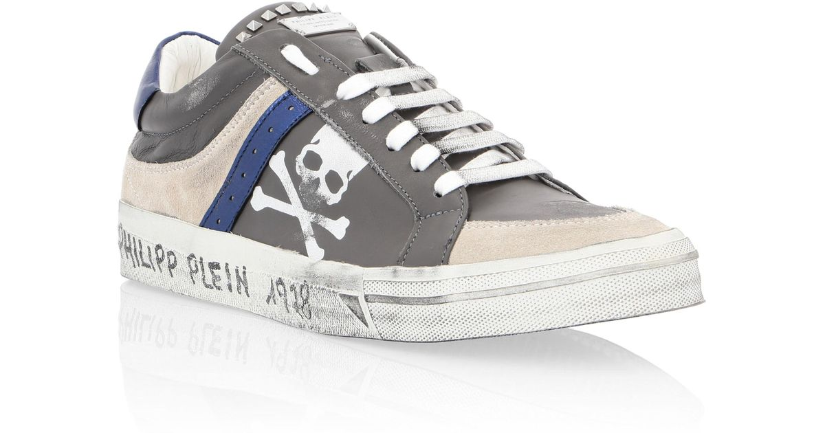 ... hot product 38b38 0073b Lyst - Philipp Plein Lo-top Sneakers Original  in Gray for ... d7f92388fe3