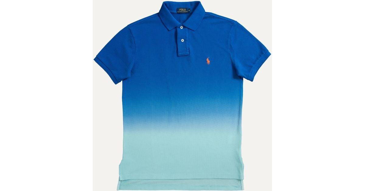 Fit Button Bright Polo Imperial Lauren For Blue 2 Ralph Fade Custom Men CrdxoBe